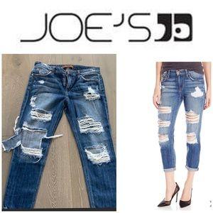 JOE'S destroyed boyfriends jeans